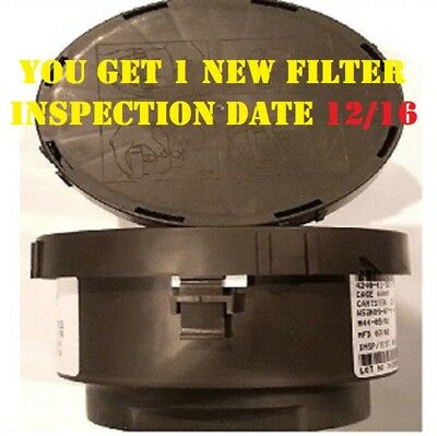 (1) M44-C2A1 M40 40mm NATO Gas Mask Filter Inspection Date 12/16