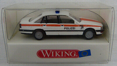 wiking 10408 polizei opel senator wei orange 1 87. Black Bedroom Furniture Sets. Home Design Ideas