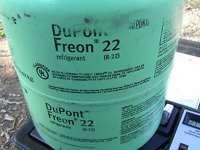 Dupont Refrigerant R22 Partial.30 lb Tank freon 27 pounds gross air conditioning
