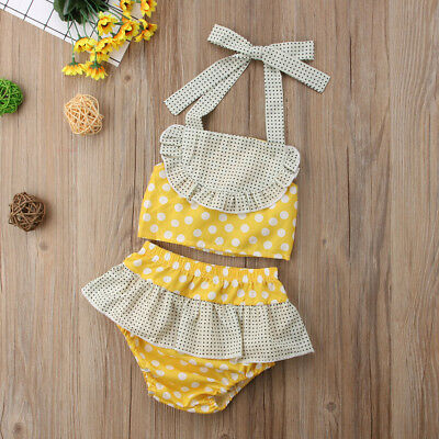 Toddler Kids Baby Girls Bikini Swimwear Swimsuit Bathing Suit Beachwear New