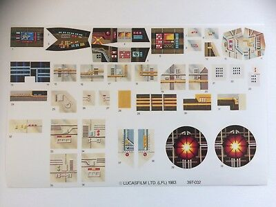 Star Wars Vintage Y-Wing custom Repro Y Wing Decals/Stickers/Labels Sheet