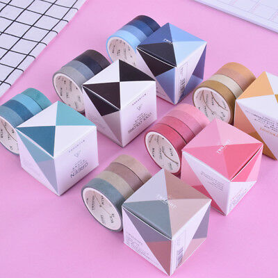 4Pcs/Box 0.9cm*3m New Simple Solid color Washi tape DIY Adhesive tape New