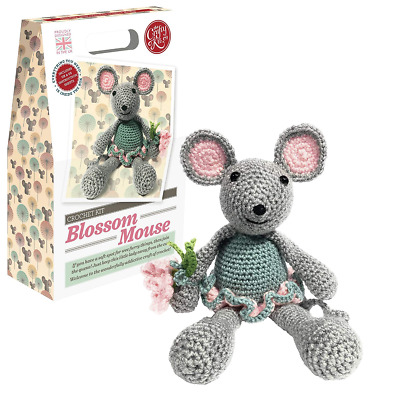 The Crafty Kit Co. Blossom Mouse Crochet Kit Makes 1 Mouse
