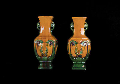 China 20. Jh. Paar Baluster Vasen - A Pair Of Chinese Stoneware Vases - Chinois