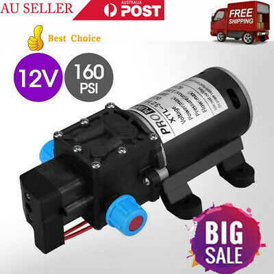 160PSI 8LPM 12V WATER PUMP High Pressure Self-Priming Caravan Boat Marine Camp