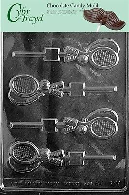 Cybrtrayd S080 Tennis Racquet Lolly Chocolate Candy Mould with Exclusive