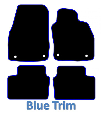 Vauxhall Astra H MK5 2004 TO 2009 Tailored Car Mats - Black With Blue Trim