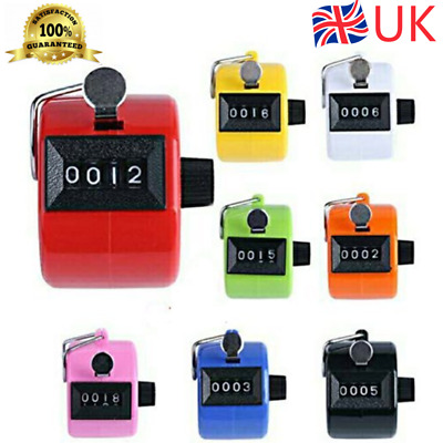 HQ 4 Digit Counting Manual Hand Tally Number Counter Mechanical Click Clicker UK