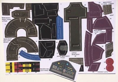 Star Wars Vtg Palitoy Slave I custom Repro Slave 1 Decals/Stickers/Labels Sheet