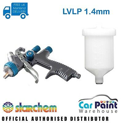 Starchem LVLP 1.4mm Spraygun Gravity Feed Professional Spray Gun Lacquer & Base