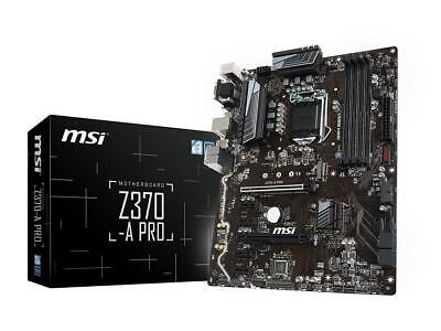 Msi Z370-A Pro Intel 8Th Gen Atx Ddr4 64Gb 2Pciex16 Cfx M.2 Dsub Dvi Dp Usb3.1