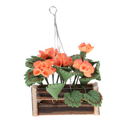 Dollhouse Miniature Any Room Garden Decor 1/12 Hanging Flowers Potted Plants