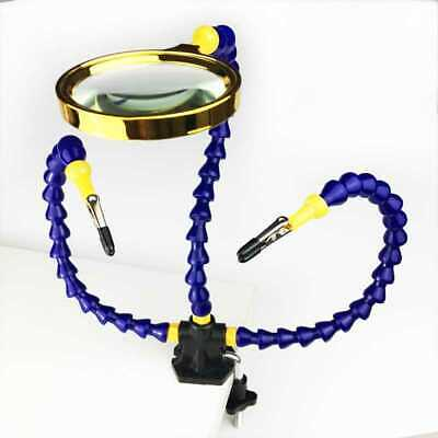 Flexible Helping Hands Soldering DIY Third Hand Tool Portable w/ 2 Nylon Arms