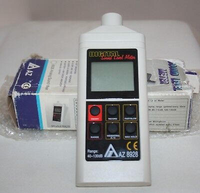 Digital Sound Level Meter Model 8928 With Instruction Manual