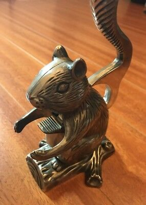 "Antique Metal Squirrel Nutcracker 6"" Godinger"