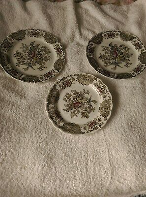 windsor ridgway of staffordshire england 3 plaques/platers