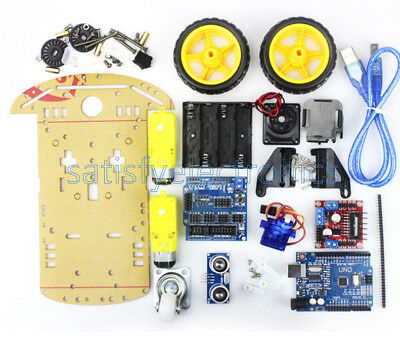 Smart Car Tracking Motor Smart Robot Car Chassis 2WD Ultrasonic MCU Arduino