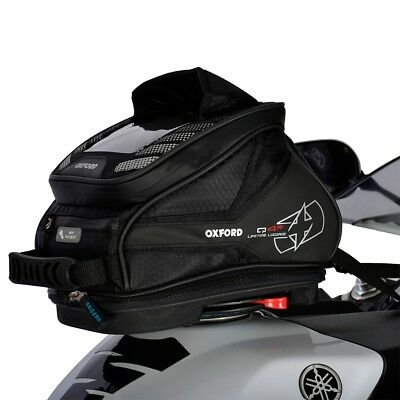 Oxford Q4R Quick Release Motorcycle Motorbike Luggage Tank Bag Black