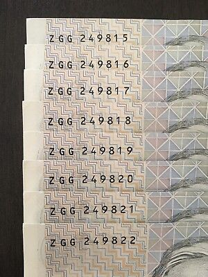 1-8 Cons 1990 Paper $100 One Hundred Dollar Fraser/higgins Grey Nurse Notes