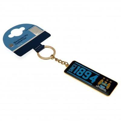 MANCHESTER CITY FC Keyring EST 1894  OFFICIAL LICENSED  MERCHANDISE GIFT