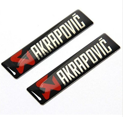 2pcs AKRAPOVIC Exhaust Heat Resistant Foil Car Auto Emblem Badge Decal Sticker