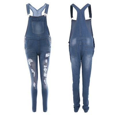 Summer Jumpsuit Women Straps Denim Jeans Bib Pants Overalls Rompers Trousers AI