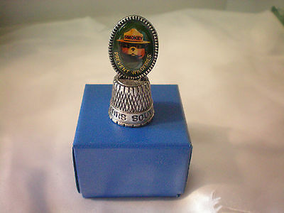 SMOKEY the BEAR Sewing Thimble Prevent Wildfires Collectors Souvenir