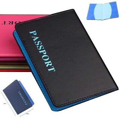 Protector Candy Color ID Card Case Travel Wallet Leather Passport Cover Ticket