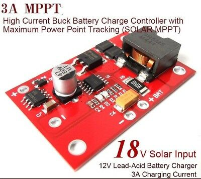 MPPT Solar Controller 12v lead-acid  Battery Charging 3A Charger Module power