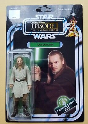 Custom Vintage Qui-Gon Jinn Action Figure 3.75in Star Wars Episode 1