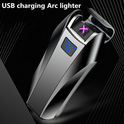 Arc Rechargeable electric USB Windproof flameless charging Cigarette lighter