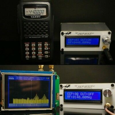 140MHZ-4400MHZ RF Signal Generator Signal Source Digital LCD + Battery +Antenna