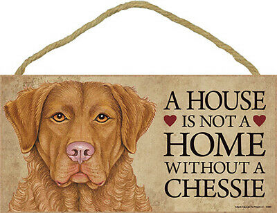 Chesapeake Bay Retriever Indoor Dog Breed Sign Plaque - A House Is Not A Home...