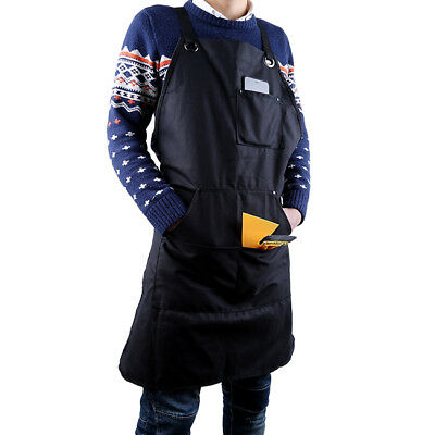 Durable Waxed Canvas Work Apron Tool Adjustable Woodworker Carpenter Mechanics D