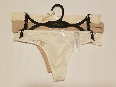 847491aaf967 New SOPHIE B 3-Pack Assorted Women's Sizes S & L Low Rise Thongs Panties