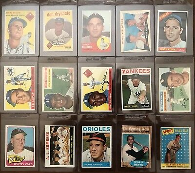 1,000 CARD LOT of HIGH-END VINTAGE BASEBALL (MANTLE, MAYS, AARON, KOUFAX)+ MORE