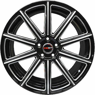 4 Gwg Wheels 18 Inch Black Red Mill Drift Rims Fits Chevy Camaro Ls