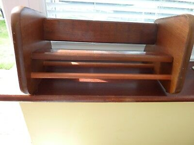 Vintage Dual Purpose Good Solid Wooden Book Shelf /Trough Joints Need Tightening