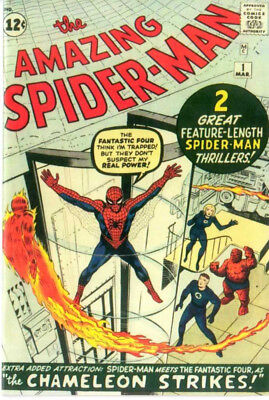 Amazing Spiderman 1 Custom Made Cover with 1980's Reprint 1st Spiderman REPRINT