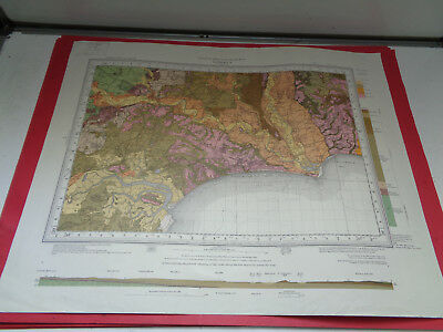 Bournemouth geological survey map Great Britain drift sheet 329 LOTBUN855M