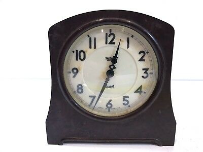 Vintage Smith Sectric Alarm Clock Bakelite Bodied Collectable Clock Wired Retro