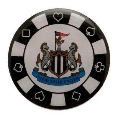 NEWCASTLE UNITED FC  Poker Chip Pin Badge OFFICIAL LICENSED  MERCHANDISE GIFT