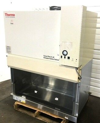 TESTED Thermo Scientific 1284 Class 2 Biological Exhaust Safety Cabinet Hood 197