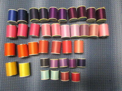 Lot 38 J&P Coats Dual Duty Mercerized Cotton Covered Polyester Sewing Thread #8