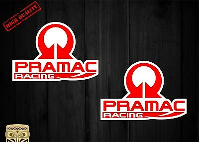 Pegatina Decal Sticker Autocollant Adesivi Aufkleber 2X Pramac Racing