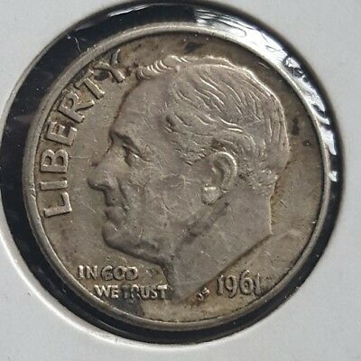 United States 1961 D Silver dime