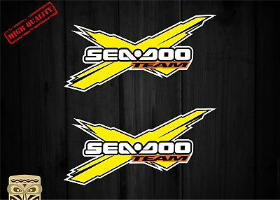 Pegatina Decal Sticker Autocollant Adesivi Aufkleber 2 X Team Seadoo  Sea Doo