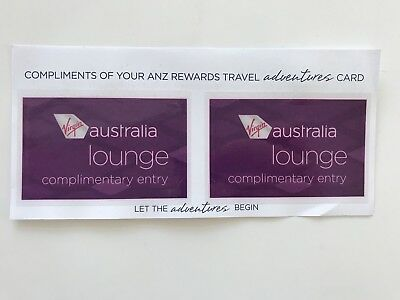 Virgin Australia Lounge Passes x 2 - valid to 31 July 2019!