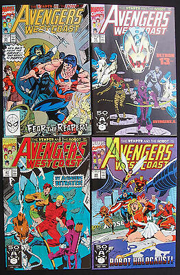 AVENGERS WEST COAST #65-68 REAPER & THE ROBOT 1-4 Complete - Ultron - 9.2 NM-
