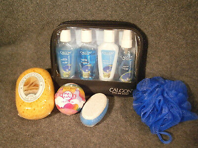 CALGON Take Me Away MORNING GLORY 4 PC GIFT TRAVEL SET bath + 4 items FREE NEW !